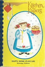 SYLACAUGA AL 1990 HAPPY HOME PLAYCARE & FRIENDS COOK BOOK * KITCHEN KAPERS *RARE