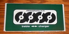 Treble Charger Stereophonic hi-fi Sticker Decal Rectangle Promo 6x3