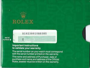 ROLEX Genuine Blank Warranty & Brochures for Day-Date 182388 1990 (E******)