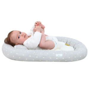 Portable Baby Bassinet Soft Bassinet Sheets With Pillow Lounger Crib Sleep Nest