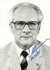 Erich Honecker Autogramm Autograph Generalsekretär SED Politiker DDR