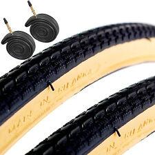 COYOTE ty704 700 X 28c Nero / gumwall ROAD BIKE pneumatici con presta TUBI x2
