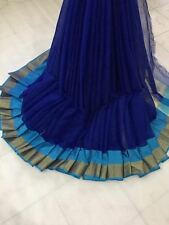 Traditional Designer Bollywood Indian Saree Fabric Kota Doriya Partywear Sari