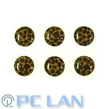 6 PCS Leopard Patterns Home Button Sticker for iPad 1/2/3/4 + Bonus Set