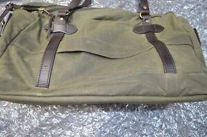 FILSON 24-HOUR TIN CLOTH BRIEFCASE Bag Green w Strap