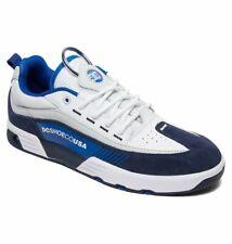 Tg 42 - Scarpe Uomo Skate DC Shoes Legacy 98 Slim White Blu Sneakers Schuhe 2019