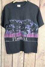 Vtg 90s Oneita San Segal St Petersburg Beach Florida Double Sided Usa L Glitter