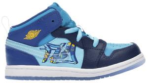 Nike Air Jordan 1 Mid TD 'Fly' BV8175-400 Blue Void/Team Royal/Blue Size 6C