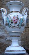 """Vase Empire """" Vieux Paris """" Anse Col-de-Cygne Porcelaine"""