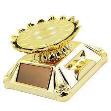 Solar Power Rotating Display Turntable Jewellery Watch Phone Lotus Golden