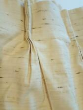 """Mid Century Modern Pleated Drapes Curtain Textured Two Panels Each 42"""" x 45-1/2"""""""