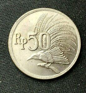 1971 Indonesia 50 Rupian Coin BU UNC   World Coin   Copper nickel   #K1148