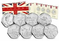 The Complete 2020 Victory 50p Collection - VE DAY 50th Anniversary Full Set BUNC
