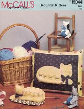 McCalls Creates KOUNTRY KITTENS 15044 5 Projects Pillow Wreath & More Uncut