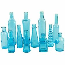 Vintage Colored Glass Bottles Wedding Party Vases 12 Piece Assortment #05203203