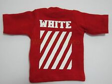 """1/6 Scale Tee Red White Big Size Short Sleeves T-Shirt For 12"""" Action Figure"""