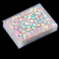 50 Sheets 3D Nail Art Stickers Manicure Tips Mix Flower Decals DIY Deco
