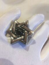Large Stainless Steel Star Of David Crest Size 9 Men's Ring