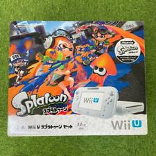 Nintendo Wii U Splatoon Set Console w/Cables Tested Japanese Only F/S