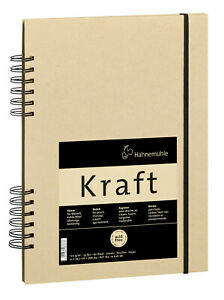 Hahnemühle Kraft Paper A4 Sketch Book (Ochre Cover, 80 Sheets)