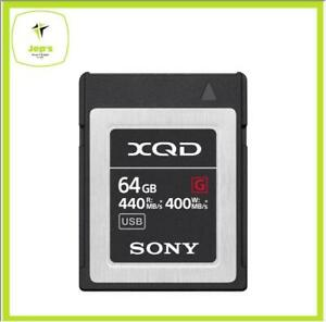 Sony XQD 64gb G Series Memory Card Brand New Jeptall