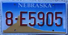 FREE UK POSTAGE  Nebraska Skyline USA License Number Plate 8-E5905 Near MINT