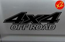 4x4 OFFROAD 4WD Diesel Ute Decal Stickers x2 200mm 15 colours