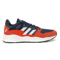 Adidas Men's Crazychaos Trace Blue/Cloud White/Active Red Running Shoes EF105...
