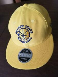New Era Cap Golden State Warriors 9Fifty snapback yellow w/ blue logo hat NEW