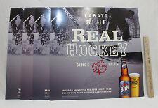 Labatt Blue Beer Signs Cardboard Wall Hanging Real Hockey 2008 Bars Home Set 4