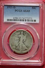 1921 D AG03 Walking Liberty Half Dollar PCGS Graded Certified Genuine OCE121