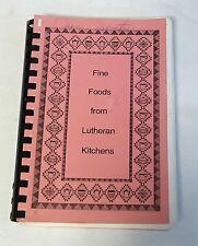1993 First English Church FINE FOODS FROM LUTHERAN KITCHENS Richmond VA cookbook