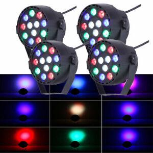 4x12LED RGBW PAR Lichteffekte Bühnenlicht DMX512 Disco Beleuchtung DJ Bar HD