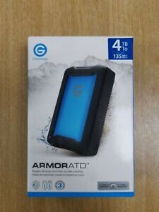 G-Technology 4TB ArmorATD Rugged Shock-Proof USB-C External Hard Drive