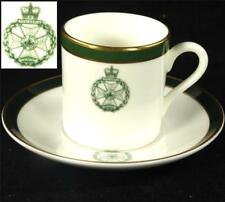 (QTY) ROYAL GREEN JACKETS ROYAL DOULTON PORCELAIN COFFEE CUP & SAUCER MILITARY