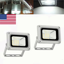 2X 10W Led Flood Light Cool White Outdoor Security Work Light Floodlight Dc12V