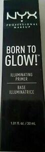 NYX Born To Glow Illuminating Primer ~ BTGP01 White ~ New In Sealed Box