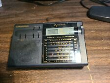 Grundig Rk 709 World Receiver 12 Band Travel Radio Clock Alarm Aws Humane Wake