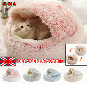 Pet Cat Dog Nest Bed Puppy Soft Warmer Pad Mat Bag Sleeping Winter House Cave UK