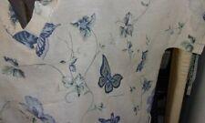 8X-9X-Scrub Top-Butterflies on beige-super lightweight-Plus Size