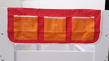 Childrens Bed Pocket Tidy - Deep Pink / Orange