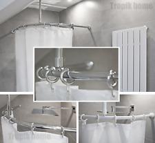 Barre de douche incurvé avec crochet de plafond et crochets différentes tailles