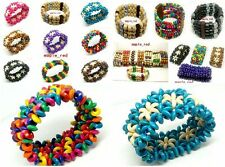 Bulk Wholesale 20 strands / Lot mixed Handwork Wood Beads Bracelets