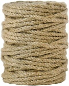 Natural Jute Twine Rope Strong Heavy Duty & Thick for Craft Gift Gardening 100ft