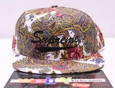 Supreme New York Paisley White Yellow Purple 5 Panel Snapback Cap Hat FW17 New