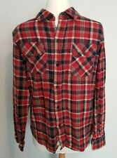 Pop England red check flannel shirt Size S/M casual 36""