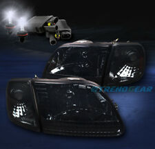 1997-2003 F-150/2002 EXPEDITION CRYSTAL HEAD LIGHT+CORNER+8000K HID SMOKE/AMBER