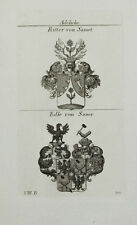 1824 STEMMA classí di SAMET cavalieri di Sauer nobile RAME chiave di tyroff