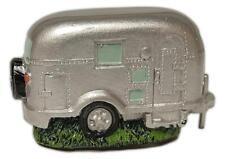 "Miniature SILVER CAMPER TRAILER Figurine, 2.25"" Long, by Wilcor"