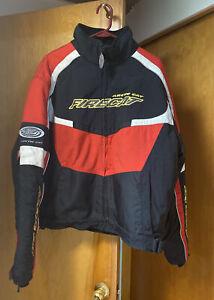 Vtg Arctic Cat Firecat Arcticwear Red Black 3 In 1 Snowmobile Jacket Coat XL